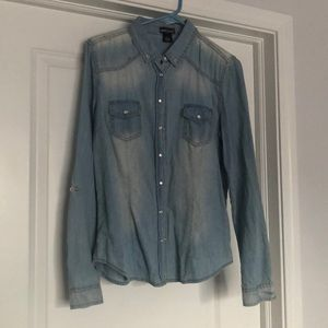 Faded Denim Button Up